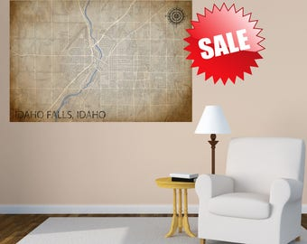 Idaho Falls Map CANVAS Idaho Falls Art Idaho Falls Print Idaho Falls ID Poster Idaho Falls Wall Art Map of Idaho Falls Idaho Falls Decor