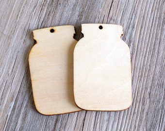 Unfinished Wood mason jar Tags Hanging Drop Birthday Party Rustic Little Gift Table Decor blank gift tags