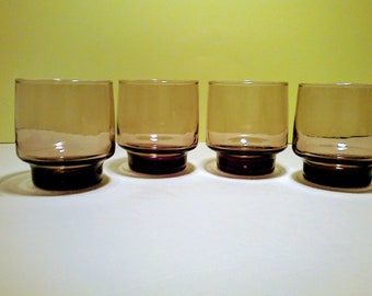 Vintage Libbey Tawny Glassware