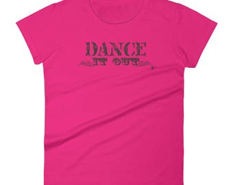 Dance it out! Country Style Line Dance Shirt in black | Women's short sleeve Country Line Dance T-Shirt | Swing Swag