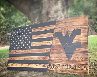 Stained WV American Flag