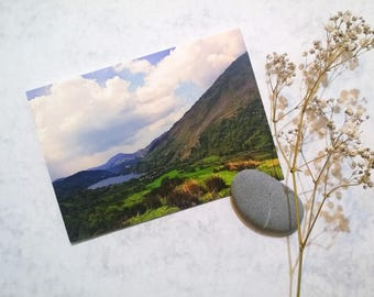 """Landscape Photography Greeting Card """"Hills and Lake"""""""