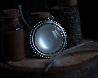 Moonstone Pendant - Wicca, Pagan, Goddess, Witchy