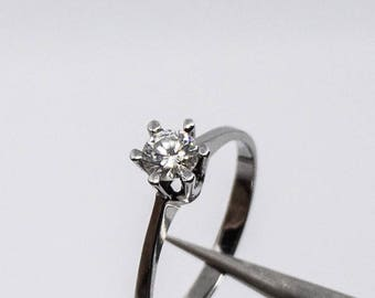 Brilliant by 0.29 ct in 585 gold engagement ring wedding ring