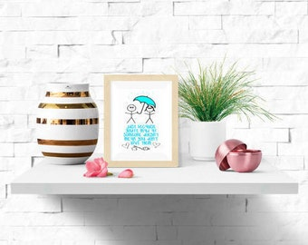 Printable Download    Love is stronger than anger     Instant Home Print Wall Art