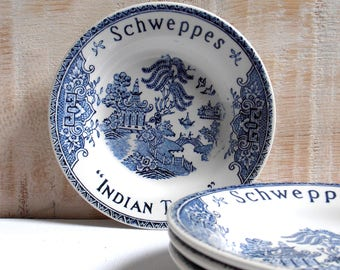 3 cups, tidy advertising Schweppes Indian Tonic Bar 1950