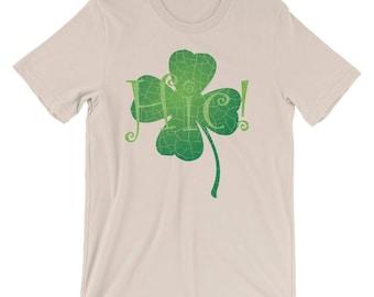 St Patrick's Day Beer Drinking Lucky Clover Funny Irish Emerald Isles Shamrock Gift Shirt Short-Sleeve Unisex T-Shirt