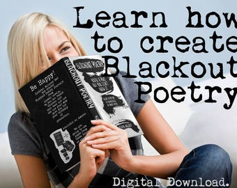 How to Create Blackout Poetry Plus FREE Printable Blackout Poetry Journal!