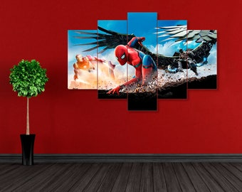 Spider Man wall art, Spider-Man, Homecoming, Spider Man canvas, Marvel canvas, Spider Man print, Marvel print, Iron man print, Spider Man