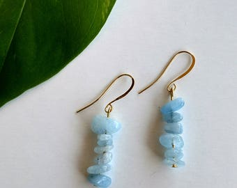 Kalahali's Aquamarine Bohemian Energy Earrings