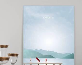 "Illustration ""Lake Garda"" the boat"