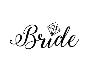 Bride (T-shirt, Ring, Wedding, Bachelorette, Party, Shirt, Design, Squad, Tribe, Engaged) SVG PNG vector Download - cutting files, cricut