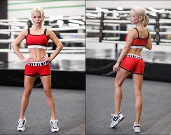 Pole Dance Top & Shorts 2pc VIA MIRROW for Pole Dance | Gym | Yoga | Fitness | Dance | Booty | Sportswear | Activewear | Outfit | Twerk