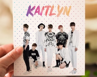 Personalised BTS K-Pop Card