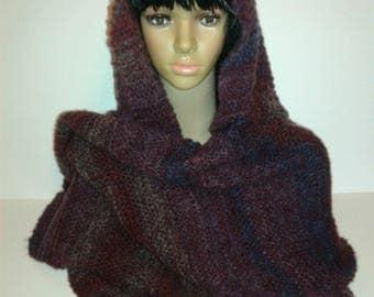 Maxi scarf + matching mittens