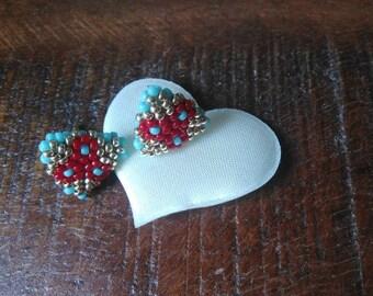 """3angoli Red"" earrings"