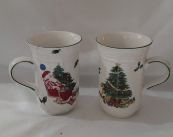 Two Christmas mugs