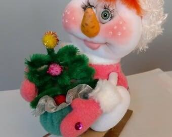 Sledding Snowlady