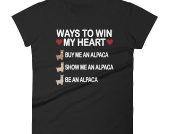 Alpaca Women's short sleeve t-shirt - alpaca - alpaca shirt - alpaca gift - alpaca tshirt