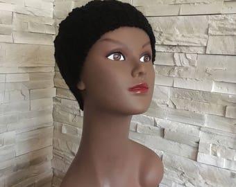 Black checkered headband