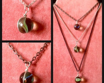 Necklace- Marble-  Handmade