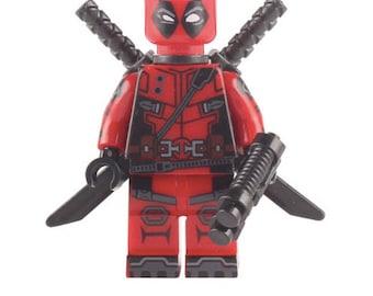 Deadpool Marvel Super Hero Mini Figure fits LEGO