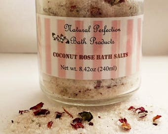 Coconut Rose bath salts