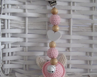 Maxicosikette-Stroller Chain-turtle-stroller chain Crochet
