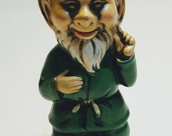 "Vintage gnome elf figurine  5"" tall Japan made"