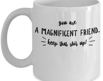 Funny Friend Mug - Gift For Friend - BFF Friends Birthday Valentine - Keep That Shit Up - Coffee Tea 11oz 15oz