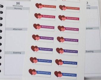 18 anniversary reminder planner stickers , planner sticker ------M114P