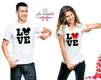 LOVE Couple Matching T-Shirt, Couple Love Shirts, Gift For Him, Gift For Her, Boyfriend gift, Valentines Day Gift, Funny T- Shirts, V11