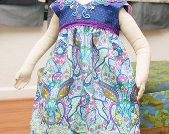 Hand painted applique bunny dress (2t)