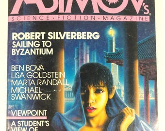 Four Vintage Copies of Isaac Asimov's Science Fiction Magazine 1984-1985