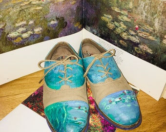 Hand-Painted Monet Shoes