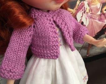 "Cotton-woven bolero jacket with ""French"" sleeve"