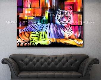 Tiger Colors Canvas Gallery Wrap