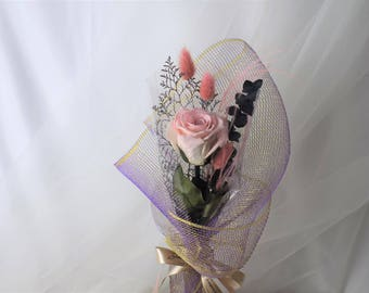 Preserved rose single bouquet