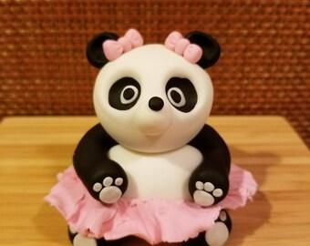 Panda Bear Cake topper Girl