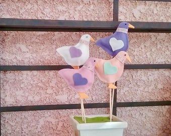 DIY Felt Ducks Pattern