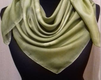 Scarf Schaltuch cloth silk scarf hand painted