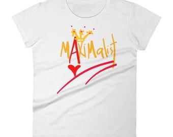 Maximalist Love and Crown Statement Art Tee Women's short sleeve t-shirt