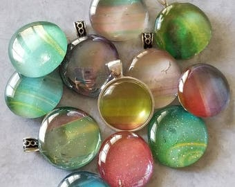 Multicolor Decorated, Magnets, Necklace Pendant, Cabochon