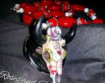 Sugar Skull Cow Skull