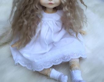 Handmade Boudoir Doll in a silk dress