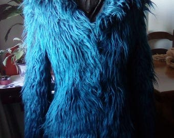 Eco Blue fur-years ' 70-Vintage!