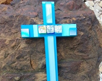 Wooden Decorative Cross-Wall Decor-Gift for Her-Hand Painted Cross-Easter Gift