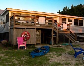 Beach House at Sunset: Pawleys Island, South Carolina