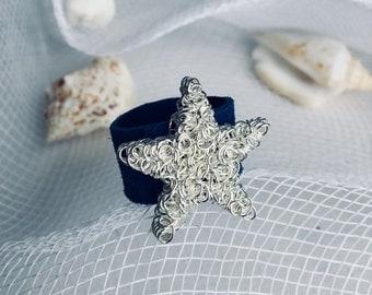 Starfish Leather Ring