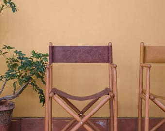 Director Beech Chair and Leather